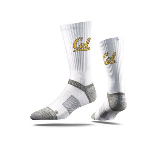 Picture of Cal Berkeley Sock Campanile White Crew Premium Reg