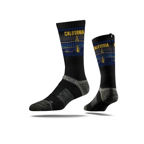 Picture of Cal Berkeley Sock Campanile Black Bear Premium Reg