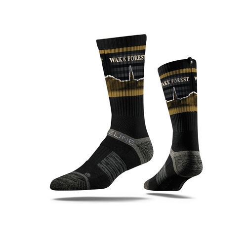 Picture of Wake Forest Sock Old Gold/Black Crew Premium Reg
