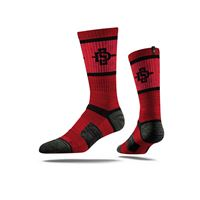 Picture of San Diego State Sock Scarlet Crew Premium Reg