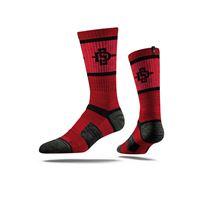 Picture of San Diego State Sock Scarlet Crew Premium Reg