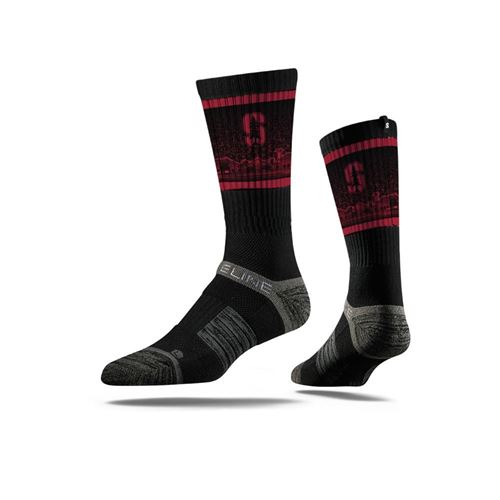 Picture of Stanford Sock Black Crew Premium Reg
