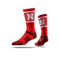Picture of Nebraska Sock Red Huskers Crew Premium Reg