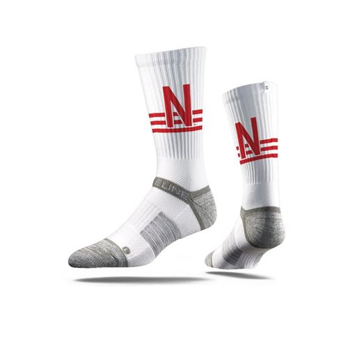 Picture of Nebraska Sock White Huskers Crew Premium Reg