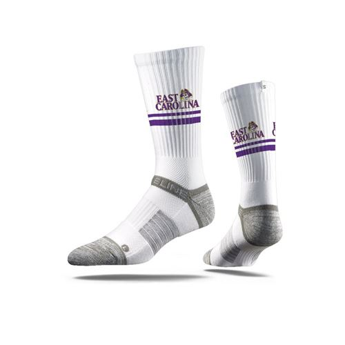 Picture of East Carolina University Sock ECU White Crew Premium Reg