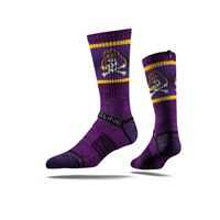 Picture of East Carolina University Sock Purple Pirate Crew Premium Reg