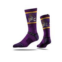 Picture of East Carolina University Sock Purple Pirate Crew Premium Reg
