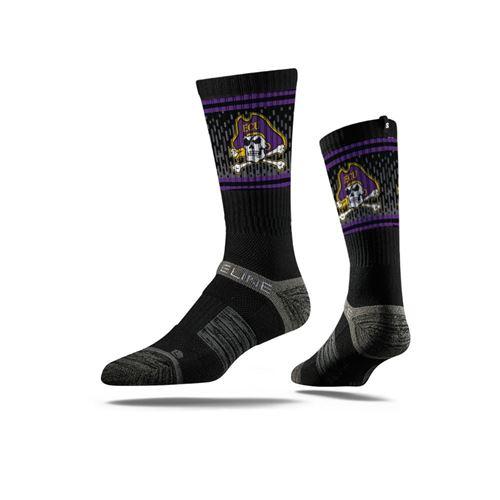 Picture of East Carolina University Sock Undaunted Black Crew Premium Reg