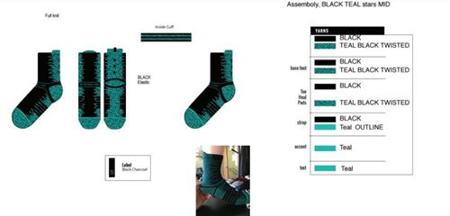 Picture of Assembly, Teal Black Stars Mid