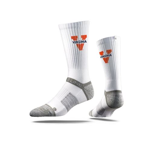 Picture of Virginia Sock Charlottesville White Crew Premium Reg