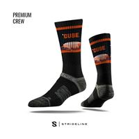 Picture of Syracuse Sock Carrier Dome Black Crew Premium Reg
