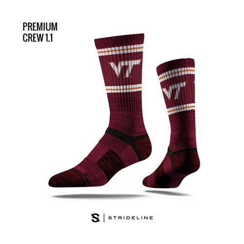Picture of Virginia Tech Sock Maroon Hokie Crew Premium Reg